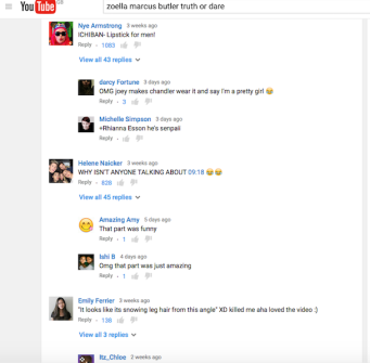 YouTube comments 2